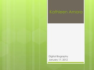 Kathleen  Amora
