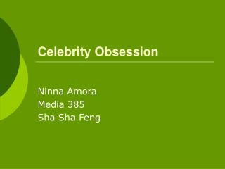Celebrity Obsession