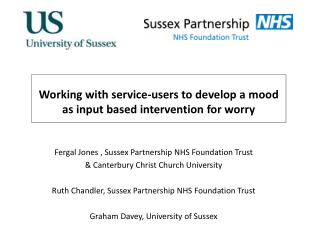 Working with service-users to develop a mood as input based intervention for worry