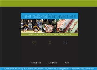 PowerPoint slides by R. Dennis Middlemist, Professor of Management, Colorado State University