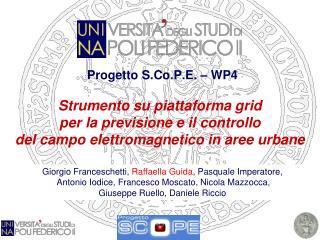 Progetto S.Co.P.E. – WP4