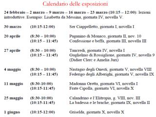 Calendario delle esposizioni