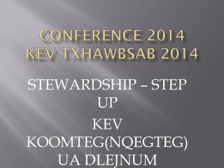 CONFERENCE 2014 Kev  txhawbsab  2014