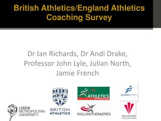 Dr  Ian Richards,  Dr Andi  Drake, Professor John Lyle, Julian North, Jamie French