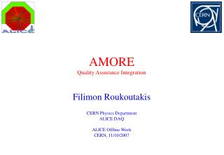 AMORE Quality Assurance Integration