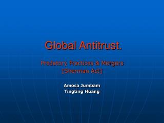 Global Antitrust.