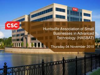 Huntsville Association of Small Businesses in Advanced Technology HASBAT  Thursday 04 November 2010