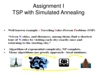 Assignment I TSP with Simulated Annealing