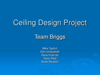 Ceiling Design Project