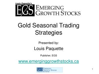 Gold Seasonal Trading Strategies