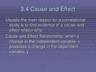 3.4 Cause and Effect