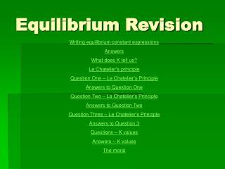 Equilibrium Revision