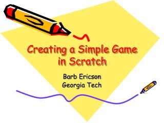 Creating a Simple Game in Scratch