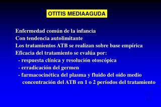 OTITIS MEDIAAGUDA