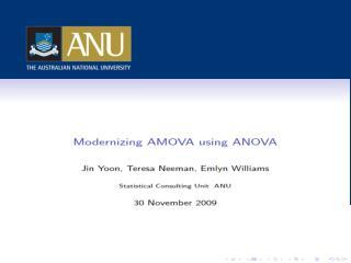Modernizing AMOVA using ANOVA