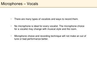 Microphones  –  Vocals