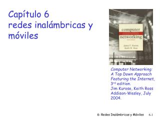 Capítulo 6 redes inalámbricas y móviles