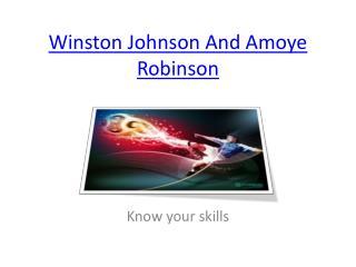 Winston Johnson And Amoye Robinson