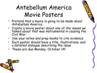 Antebellum America Movie Posters