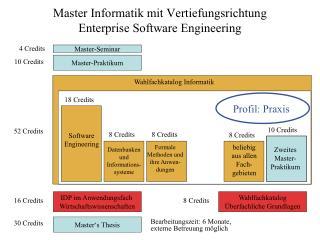 Master Informatik mit Vertiefungsrichtung Enterprise Software Engineering