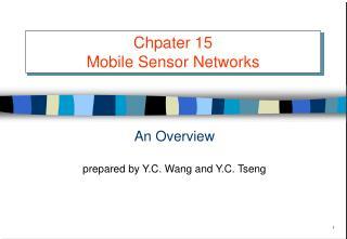 Chpater 15 Mobile Sensor Networks