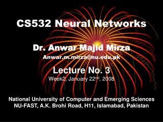 CS532 Neural Networks