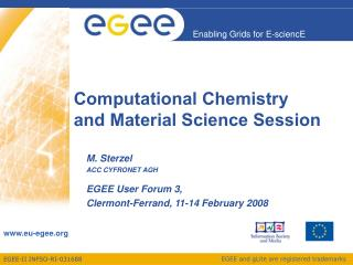 Computational Chemistry and Material Science Session