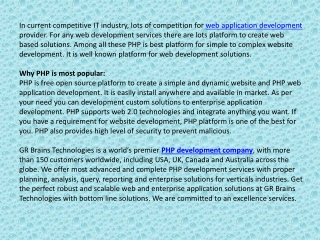 PHP Development - Reduce Cost For Your Web Application