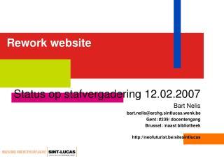 Rework website