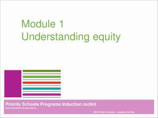 Module 1 Understanding equity