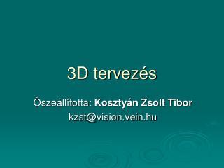 3D tervezés