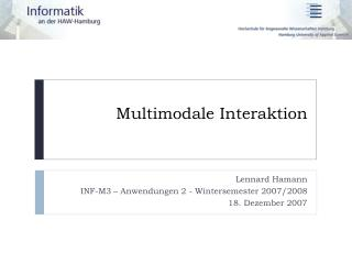 Multimodale Interaktion