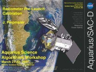 National Aeronautics and Space Administration Goddard Space Flight Center Greenbelt, MD
