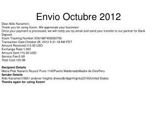 Envio Octubre 2012