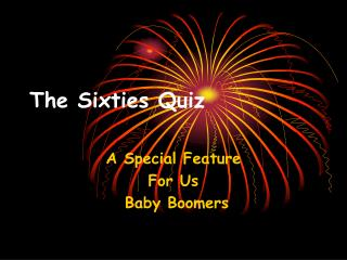 The Sixties Quiz