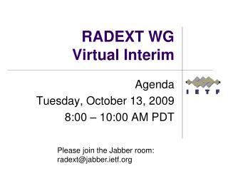 RADEXT WG Virtual Interim