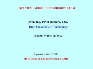 Quantum   Model   of  hydrogen  atom