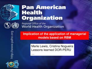 Implication of the application of managerial models based on RBM