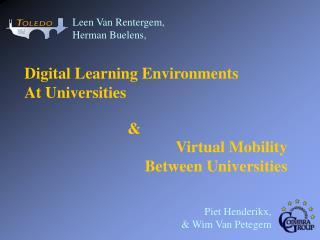 Digital  Learning  Environments At Universities