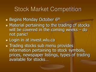 Stock Market Competition