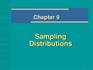 Sampling Distributions