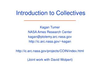 Introduction to Collectives