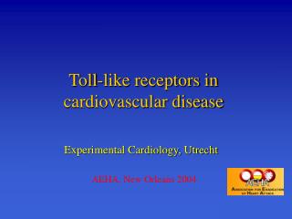 Toll-like receptors in cardiovascular disease