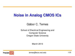 Noise in Analog CMOS ICs
