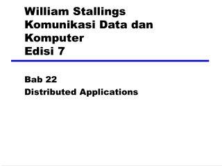 William Stallings Komunikasi Data dan Komputer Edisi 7