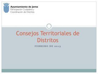 Consejos Territoriales de Distritos