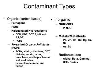 Contaminant Types