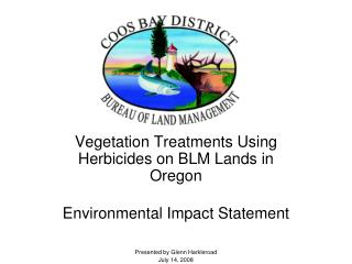 Vegetation Treatments Using Herbicides on BLM Lands in Oregon Environmental Impact Statement