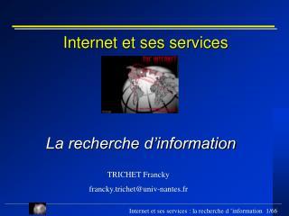 Internet et ses services