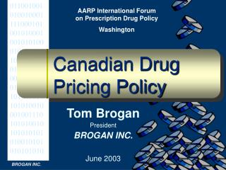 Canadian Drug Pricing Policy